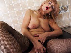 slutty mature playing rough dildo playing