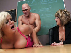 Johnny Sins makes his hard sausage disappear