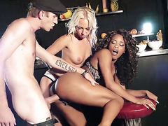 Kiki Minaj does her best to make hard cocked