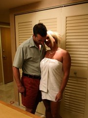 Hot mature mom riding a stiff meat stick