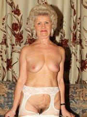 Naughty grannies Francesca and Erlene show off their sagged breasts while taking turns on a cock