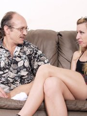 Blonde older chick gets kinky with also matured lover indulging in horny fuckfest